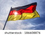 Germany Flag On Fky Background