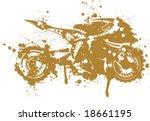 splatter superbike art | Shutterstock .eps vector #18661195