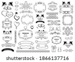 calligraphic design elements .... | Shutterstock .eps vector #1866137716