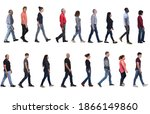 large group of people wearing... | Shutterstock . vector #1866149860