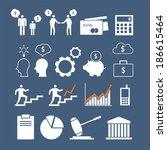 business career icons. vector... | Shutterstock .eps vector #186615464