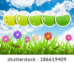 vector illustration of spring... | Shutterstock .eps vector #186619409