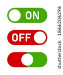 on off switch button icon set....