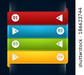 modern business origami style... | Shutterstock .eps vector #186623744