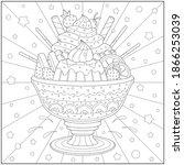 sundae sweets and ice cream.... | Shutterstock .eps vector #1866253039