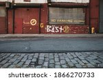 View Of A Wall With Graffiti...