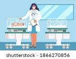 neonatal resuscitation. female...   Shutterstock .eps vector #1866270856