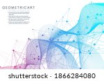 geometric abstract background... | Shutterstock .eps vector #1866284080