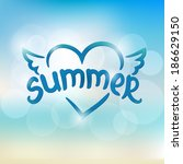 summer typographic design. hand ...   Shutterstock .eps vector #186629150