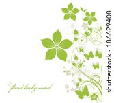 abstract flowers background...   Shutterstock .eps vector #186629408