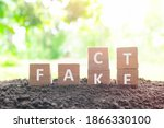 Fake News Versus Facts Concept. ...
