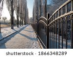 Winter Urban Landscape With A...