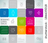 infographic squares background...