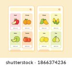 fruit store ui or ux design for ...