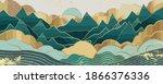 gold mountain wallpaper design... | Shutterstock .eps vector #1866376336