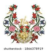 beautiful botanical abstract... | Shutterstock .eps vector #1866378919
