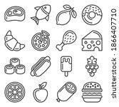 food icons set on white... | Shutterstock .eps vector #1866407710