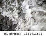 Close Up View Of Rushing River...