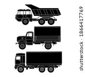Truck Side View Set. Simple...