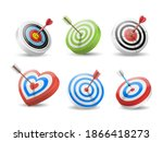 Set Of Targets And Arrows In...