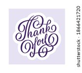 thank you   hand lettering.... | Shutterstock .eps vector #1866421720