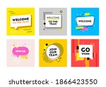 set of banners welcome and join ... | Shutterstock .eps vector #1866423550