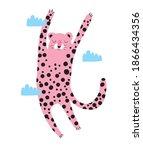 funny safari party vector... | Shutterstock .eps vector #1866434356