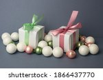 White Gifts With Pastel Mint...