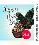 new year banner  light blue... | Shutterstock .eps vector #1866439873
