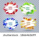 set of white paint brush... | Shutterstock .eps vector #1866463699