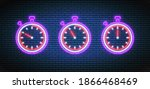 neon stopwatch. timers with 50  ...   Shutterstock .eps vector #1866468469