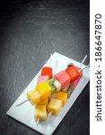 Trio Of Fresh Fruit Kebabs Wit...