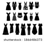 women's clothing icons... | Shutterstock .eps vector #1866486373