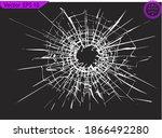 broken glass  cracks  bullet...   Shutterstock .eps vector #1866492280