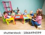 little kids develop creative... | Shutterstock . vector #1866494599