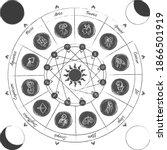 zodiac circle.astrology circle. ...   Shutterstock .eps vector #1866501919