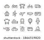 transportation icons. editable... | Shutterstock .eps vector #1866519820