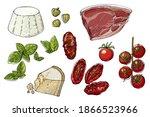 food vector sketch tomatoes ... | Shutterstock .eps vector #1866523966