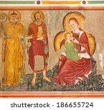 Постер, плакат: Fresco of Madonna dell