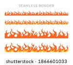 Seamless Fire Borders. Set With ...