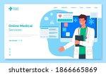 online medical services landing ...   Shutterstock .eps vector #1866665869