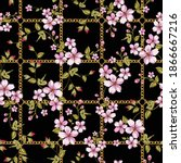 chains and flower pattern for... | Shutterstock .eps vector #1866667216