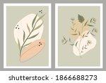 a set of contemporary art...   Shutterstock .eps vector #1866688273