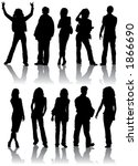 vector silhouettes man and...   Shutterstock .eps vector #1866690