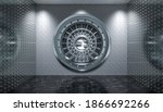 Interior Of A Vault With Steel...