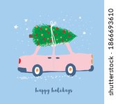 happy holidays. funny vector... | Shutterstock .eps vector #1866693610