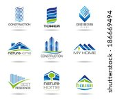 building and construction icon... | Shutterstock .eps vector #186669494