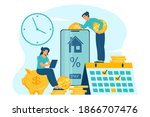 mortgage payment online concept ... | Shutterstock .eps vector #1866707476