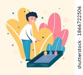 illustration vector design of a ... | Shutterstock .eps vector #1866722506