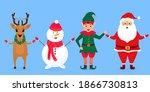 christmas elf  santa claus ... | Shutterstock . vector #1866730813